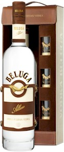 Beluga Allure Vodka Leather Gift Set 700ml - Buy