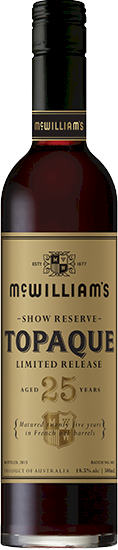 McWilliams Show Reserve 25 Years Topaque 500ml