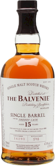 Balvenie 15 Years Single Sherry Cask Malt 700ml - Buy