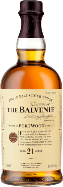 Balvenie 21 Years Port Wood Malt Whisky 700ml
