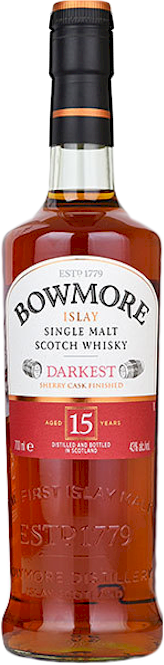 Bowmore 15 Years Darkest Islay Malt 700ml