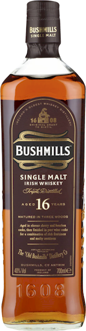 Bushmills 16 Year Irish Single Malt Whiskey 700ml