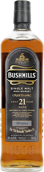 Bushmills 21 Year Single Malt Irish Whisky 700ml